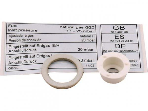 WOLF 8600862 Umrüstsatz GB-E/GB-EK/TGK-24Erdgas E auf Erdgas LL