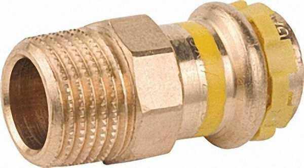 Rotguß Pressfitting Gas Übergangsnippel mit AG 54x1 1/2 PG 4243G Gas