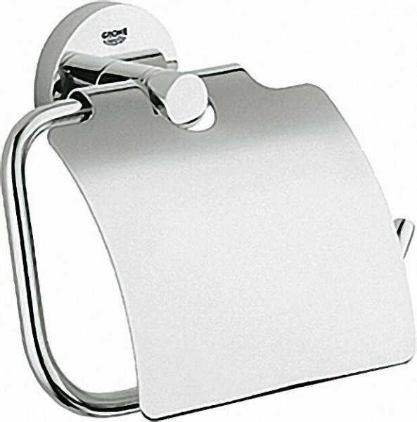 GROHE WC-Papierhalter 'Essentials' mit Deckel chrom