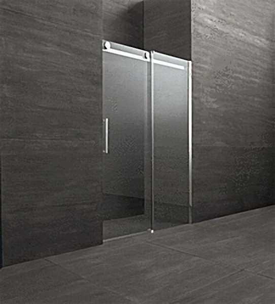 Schiebetür für Nische mit Fixteil,Tür links Fixteil rechts, Sicherheits-Glas 8mm, 1000x2000mm, Einst