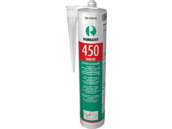 RAMSAUER Sanitär Fugendicht 450, lichtgrau, hochwertige Silicondichtungsmasse, 310 ml, 2000323