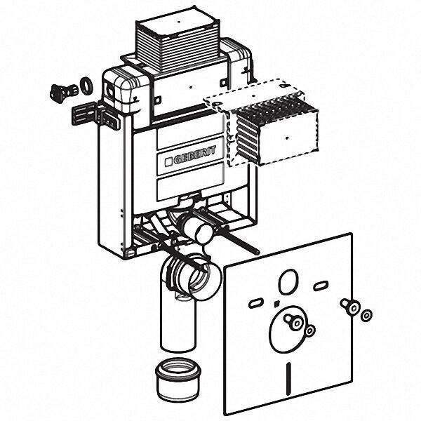 110000001 KOMBIFIX Montageelement für Wand- WC, mit Omega UP-S