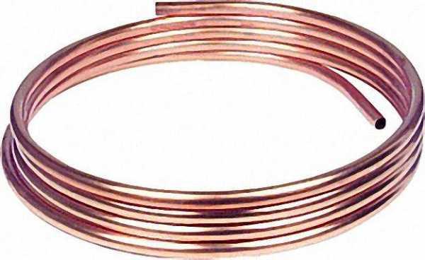 Kupfer-Installationsrohr weich in Ringen a 50 m, 8 x 1,0mm RAL/DVGW, DIN-EN 1057