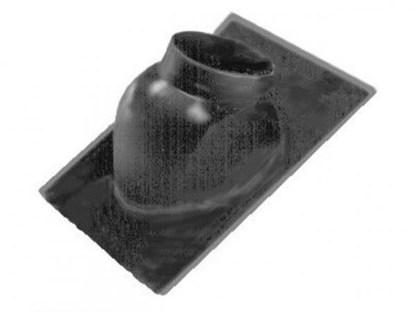 WOLF 1720202 Dachplatte für Schrägdachmit 25-45 Grad Neigung (schwarz)