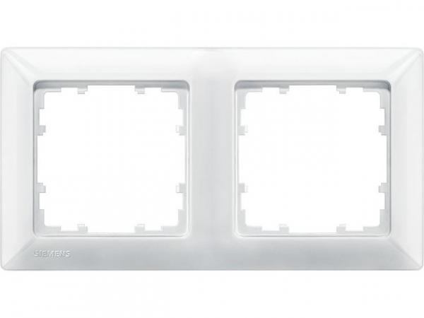 Rahmen 80-mm-Maß 2fach, 151mmx80mm titanweiß / 1 Stück