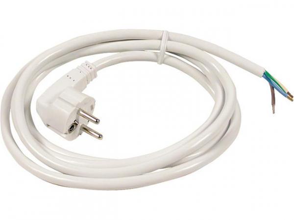 Schutzkontakt-Anschlussleitung HO5VV-F 3x1, 5 weiß 3,0m