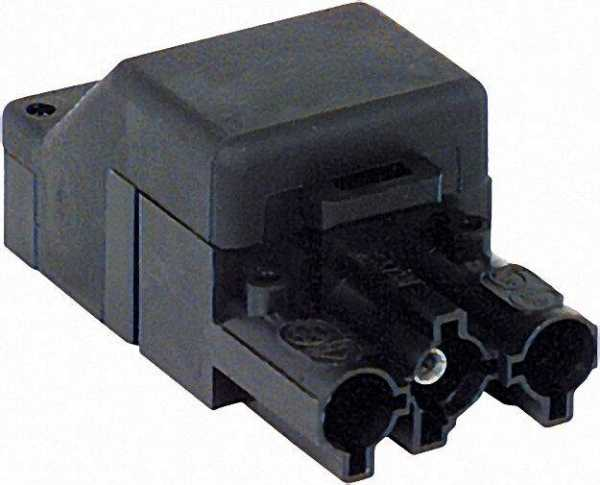 Kupplung 3-polig / schwarz 250V, 16A System Wieland