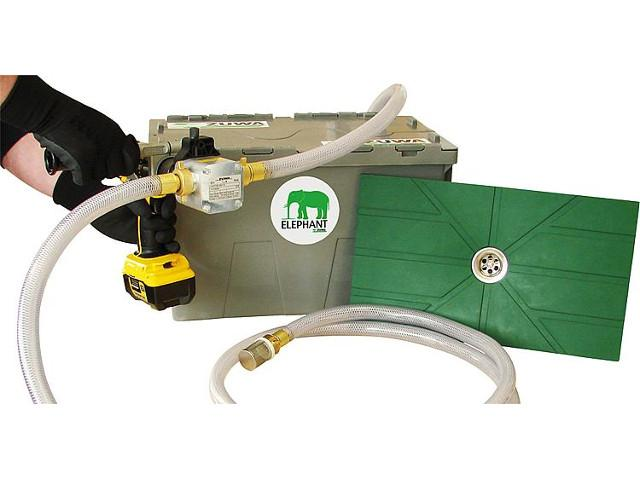 Absaugsystem ELEPHANT mit Flachsaugmatte und Impeller- pumpe UNISTAR 2