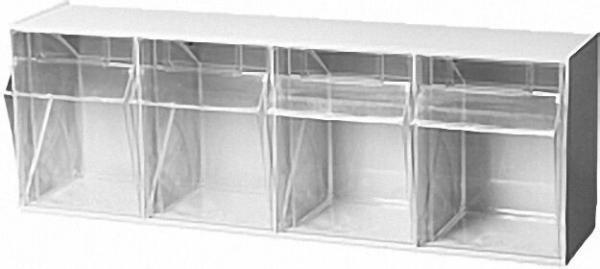 Sichtlagerkasten transparent 4 - fach