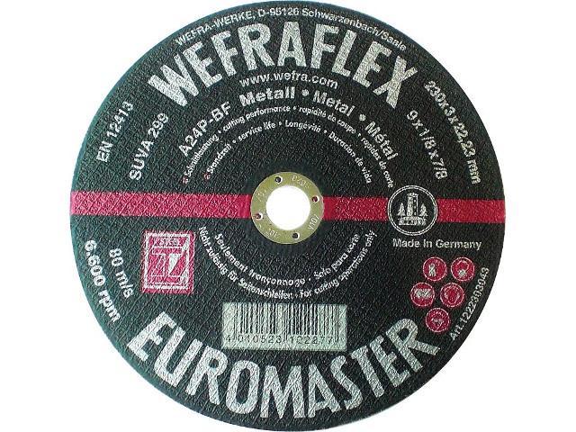 trennscheibe euromaster gerade fuer metall 230 x 3 x 22mm. Black Bedroom Furniture Sets. Home Design Ideas