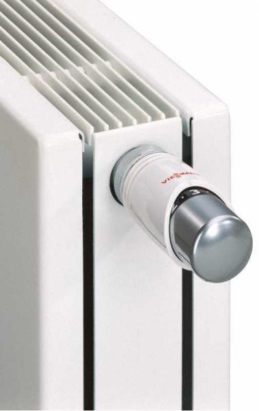 VIESSMANN 9573913 Thermostatkopf TRV 4, Farbe: Kopf chrom, Sockel weiß