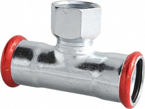 EUROTUBI C-Stahl Pressfitting T-Stück mit I.G. Abgang, DN 88,9 x 3/4'' x DN 88,9