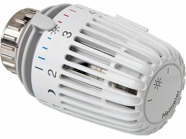 Heimeier 7000-00.500 Thermostatkopf K mit 0-Stellung 0°C bis 28°C weiß Heizungsthermostat Thermostatventil