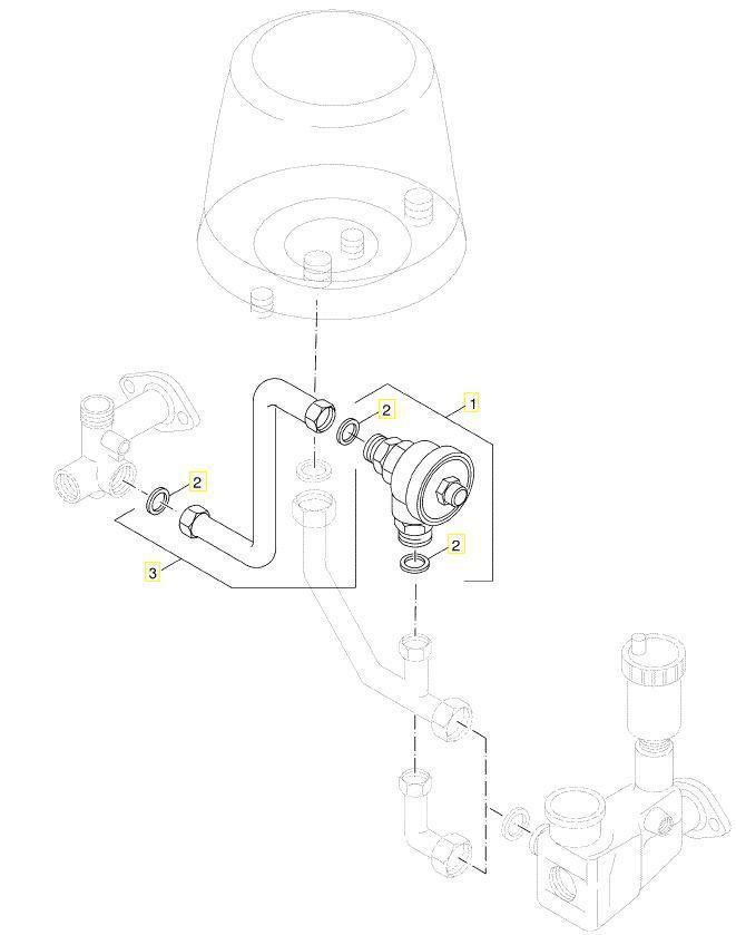 Buderus 7100188 Verbindungsrohr mit 2 Dichtungen 1/2