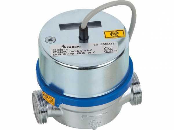 ANDRAE AP Wasserzähler Reedkontakt kalt Qn 1,5 m3/h=max 3m3/h 80mm bei max 16 bar 3/4''=DN 15mm