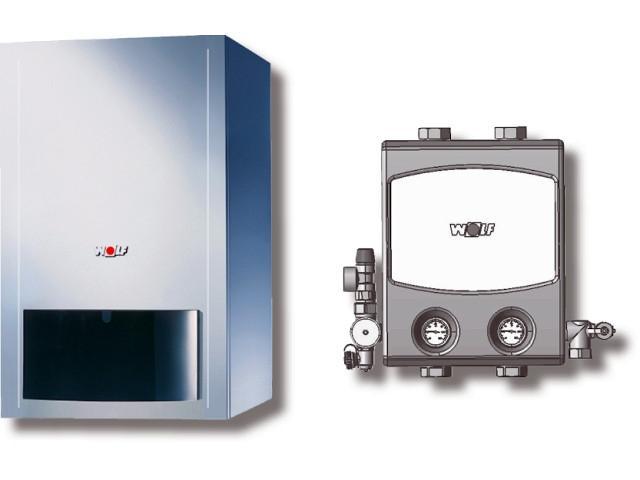 Paket Brennwerttherme CGB-100 BM, Pumpengruppe Heizkreis
