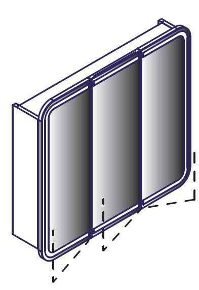 LANZET 7597112 Spiegelschrank 80x70x13, Dekor Dark Oak , LED in Tür