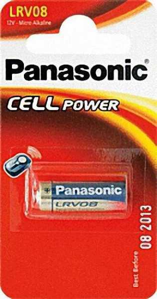 PANASONIC Batterie Alkaline Mangan LRV 08, 12 V Durchmesser 10 x 28mm, 1 Stück