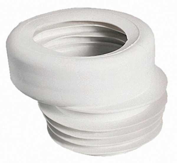 WC-Anschluss exzentrisch Durchmesser 100 x 100 Farbe: weiss