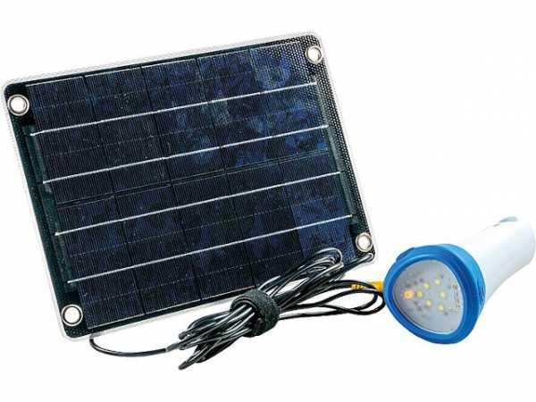 Solar-Akku-Beleuchtungsset Energiespeicher + Taschenlampe Mobile One blau