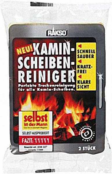 Rakso Kaminscheibenreiniger Reinigungsschwamm 2er Packung