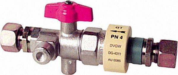 Kugelhahn mit Isolierstück und TSV, PN 4, bds. RVS 18