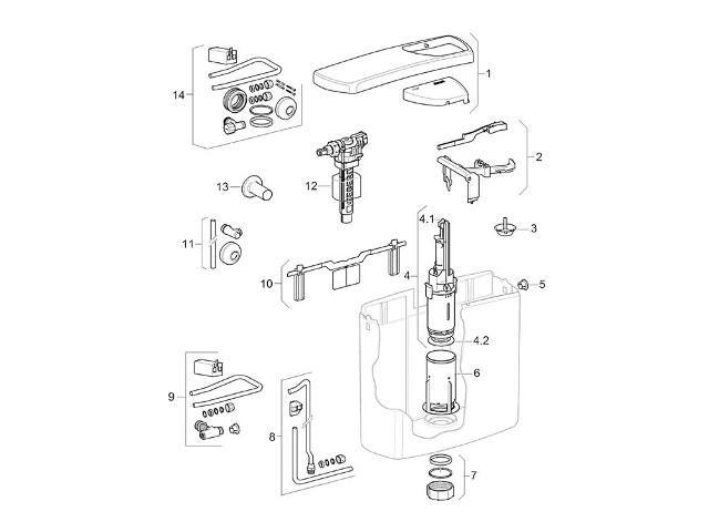 Heberglocke 1-Mengen für AP 140 Spülkasten