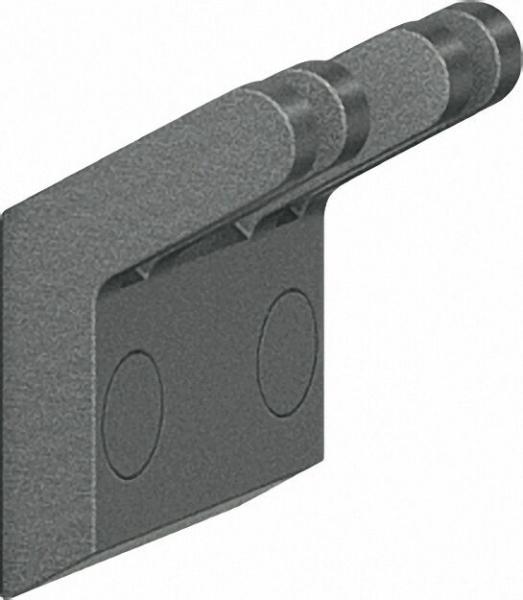 Doppelhaken Serie Cavere aus Alu., Anthrazit-Metallic 95, 60x54mm, mit Befestigung