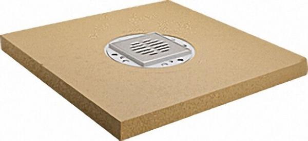 Bodenebenes Duschelement Standard Ablauf senkrecht, zentriert 1200x1200x50mm, Einbauhöhe 50mm