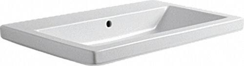 Keramikwaschtisch Thin m.Hahnloch BxT=75x45cm/rechteckig