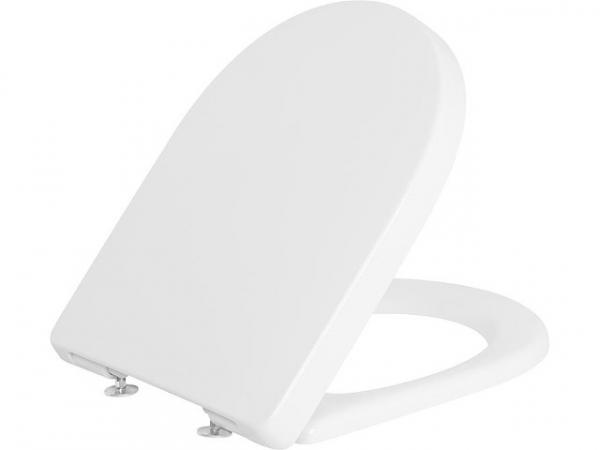 WC-Sitz V&B O.Novo, weiß, Standard, Scharienier aus Edelstahl
