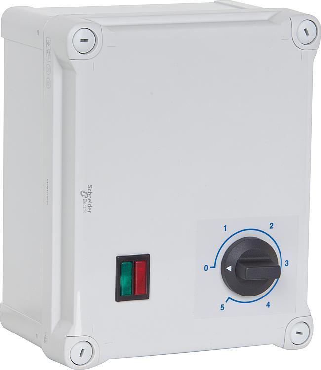 S&p 5-Stufen-Transformator, Motorschutz, Drehstrom REV RDV-0,8N
