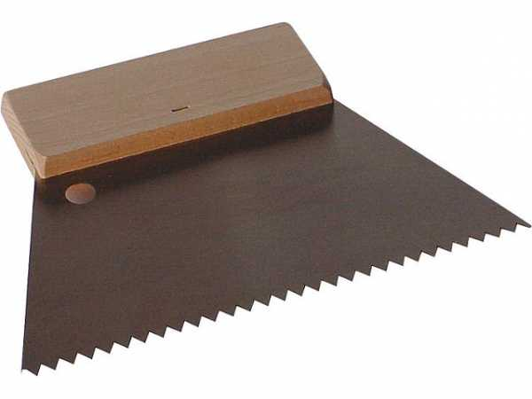 Zahnspachtel grob B4 180mm Holzrücken