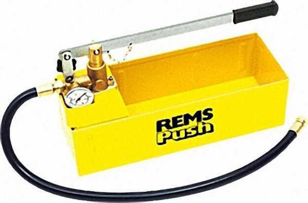 REMS Hand-Druckprüfpumpe Rems Push für Wasser, Öl, Glycol Druckbereich bis 60 bar