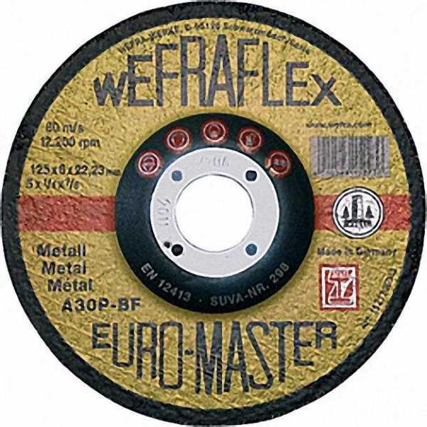 Schruppscheibe Euromaster Fuer Metall 125 X 6 X 22mm