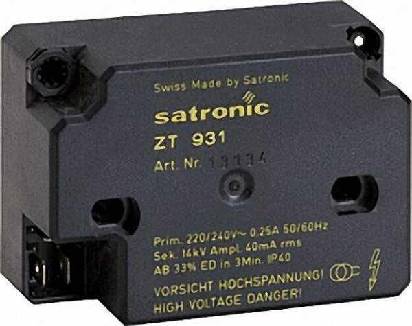 HONEYWELL Hochfrequenzzündeinrichtung Satronic ZT 931 sek. Anschluss 4mm !! ohne Kabel !! 1-polig
