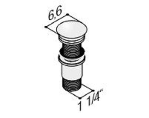 DANSANI 4882143 Design Schaftventil ohne Überlauffunktion
