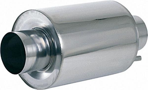 Abgasschalldämpfer Edelstahl Type AGS 330/150 Gesamtl,550mm 150mm Anschlussstutzen