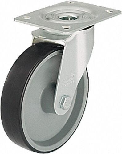 BLICKLE Lenkrolle mit Polyurethan-Lauf- belag,Palettengröße 140x110mm, Rad d=200mm,Tragfähigkeit 300