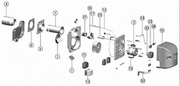 Öldruckleitung passend zu Intercal SLV 100/110 B und BNR 100/110