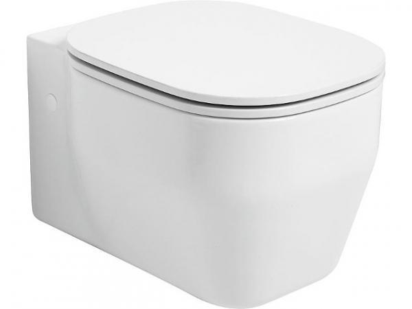 Wand-Tiefspül-WC GLAZE BxHxT 360x340x520mm aus Keramik,Weiß