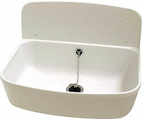 Ausgußbecken weiß inklusive Ab- und Überlaufgarnitur R 1 1/2''
