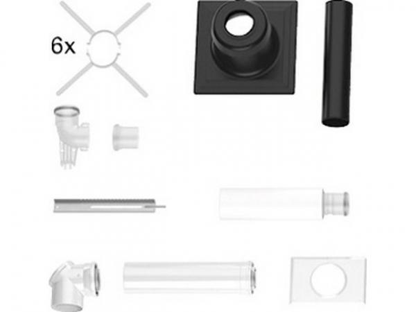 Buderus Abgassystem Grundbausatz GA-K, Kst schwarz, Ø 80/125 mm, rlu, Wandgeräte/GB102S/SB105, 7738112546