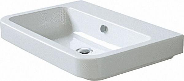 Waschtisch `TULIP` 90cm hochwertige weiße Design-Keramik wandhängend, mit 1 Hahnloch