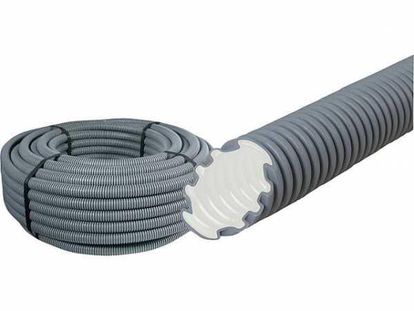 Kunststoffwellrohr MEP-FR, 750 N flammwidrig, NW 25 easy, grau Rolle a 100 m