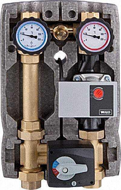 Heizkreisset Easyflow DN25 mit Überströmventil, 4-Wege-Mischer,
