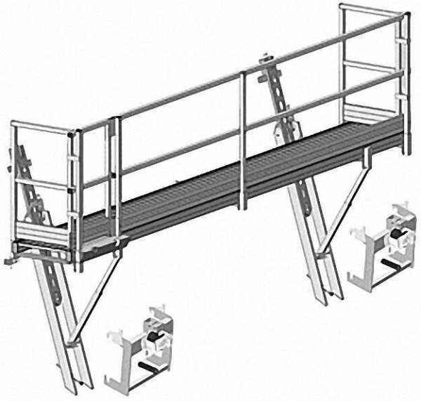 Bavaria-Leiter-Blitzgerüst SL als Dachschutzwand
