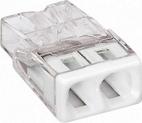Verbindungsdosenklemmen 2-Leiter-Klemmen, weiß 2273-202 / VPE 100 Stück