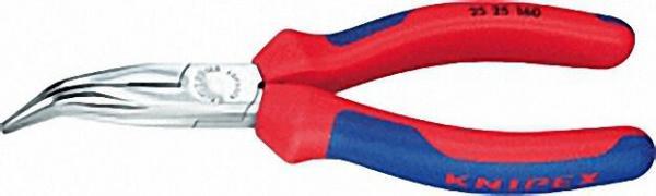 Flachrundzange mit Schneide poliert mit zweifarbigen Mehrkomponenten Griffhüllen 40° gewinkelte Back