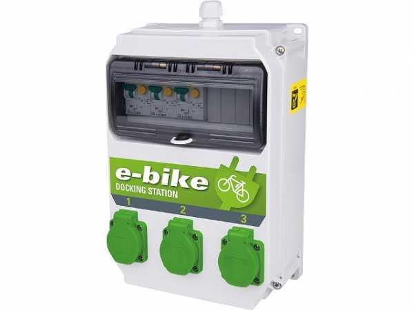 Ladestation e-Bike 250V/16A, 3x 6A FI/LS TypA 30mA BxTxH 222x114x255mm